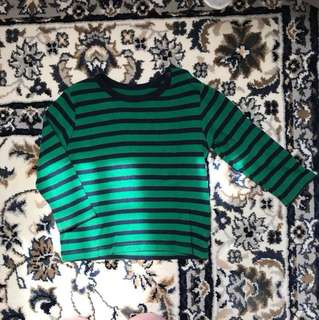 uniqlo striped long sleeve t shirt 6-9 months