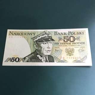 外國(波蘭)早期紙鈔,全新直版已絕版,&020