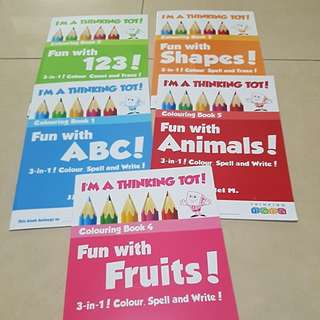 New colouring and tracing activity books