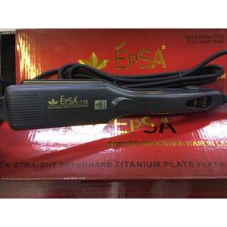 EPSA Amber Pro Flat Hair Iron 118 Brand New