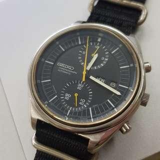 Rare vintage Seiko 6138-3002 'military' automatic chronograph