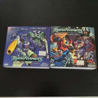 Transformer Headmaster cartoon VCD set