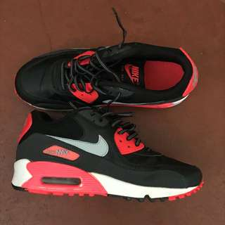 REPRICED! NIKE AIRMAX 90 infrared red / black