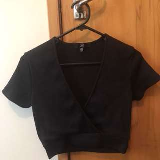 black wrap top