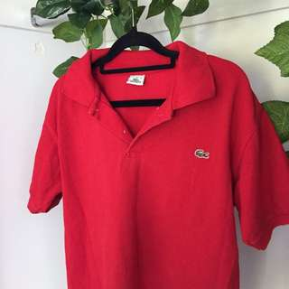 Red Lacoste Polo Shirt