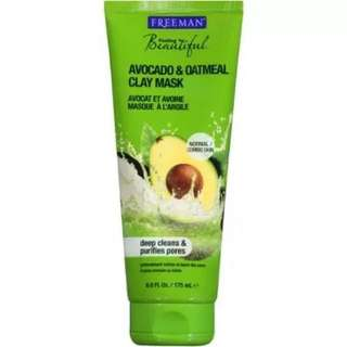 New FREEMAN AVOCADO & OATMEAL CLAY MASK.