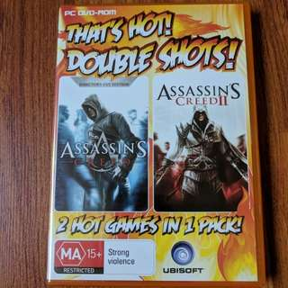 Assassin's Creed 1 and 2 PC DVD-ROMS