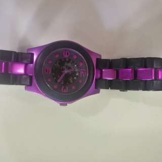 MARC By MARC JACOBS MBM3505 Pelly Black Silicone Purple Watch
