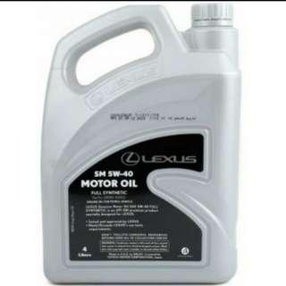 Lexus Motor Oil Fully Synthetic 5w40