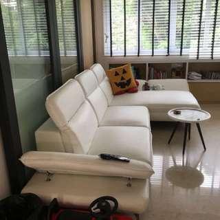 Leather designer sofa for sale Urgent
