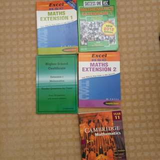 HSC Maths ($5 Each or $20 for all)