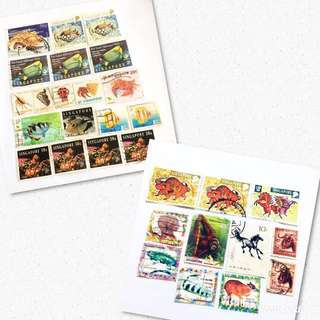 Animals & Marine Lives Old Stamps