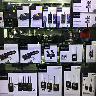 Saramonic Products Mic, Lavalier Microphone, Mixers, Wireless, Transmitter, Receivers And Etc..