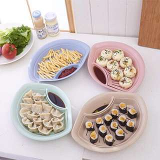 3x[In-Stock]Pink Plastic try dumpling fries sushi pink colour