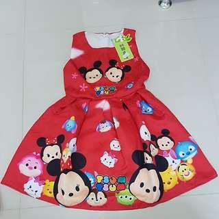 BN  CNY Tsum Tsum Dress - 3-4 & 5-6 Years Old