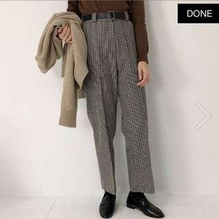 🚚 大口袋細格西裝褲