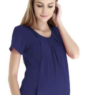 Alma blouse navy top