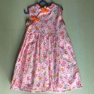 CNY Cheongsam style dress 4t 5t