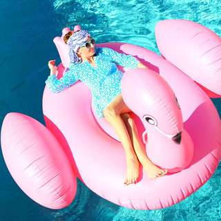Pink Swan Pool Floater