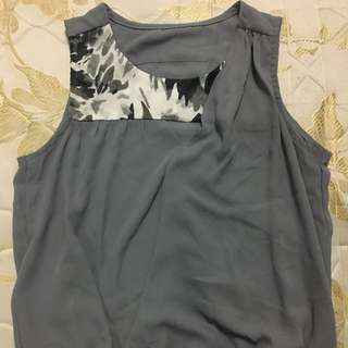 Grey sleeveless top