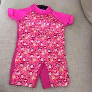 Baby girl's thermal swimsuit