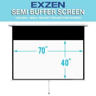 """[SALE] EXZEN 80"""" (16:9) Semi Buffer Projector Screen"""
