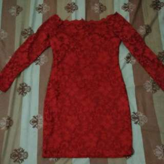 Premium sabrina dress brukat