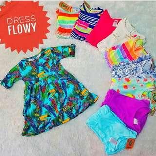 Dress Flowy Branded (Ready Size 2,3,4,5T)