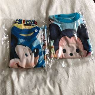 Only Long sleeve Mickey left (Tsum Tsum sold) PJs for 1-2 yos