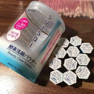 11 tubes-100K ONLY-suisai kanebo beauty clear powder 11 tubes di kotak asli.