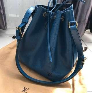 Louis Vuitton noe in gorgeous blue epi leather