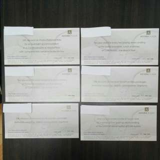 Astoria Plaza Hotel Vouchers (Set B)