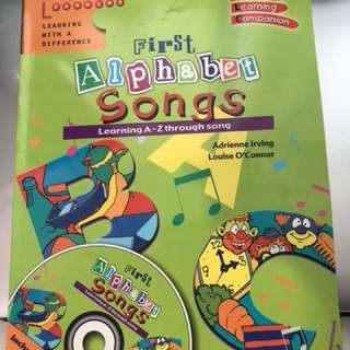 Kids alphabet book with CD