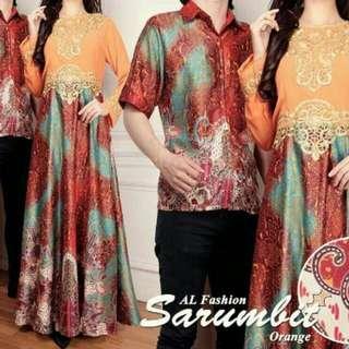 Couple batik sutra sarumbit