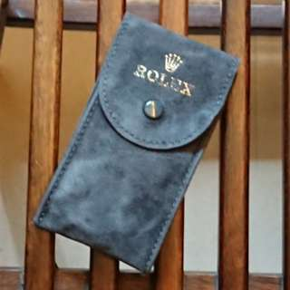 Rolex Vintage Grey Suede Watch Pouch New Old Stock RARE 勞力士