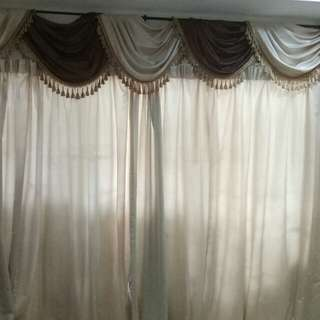 Curtain for sliding door