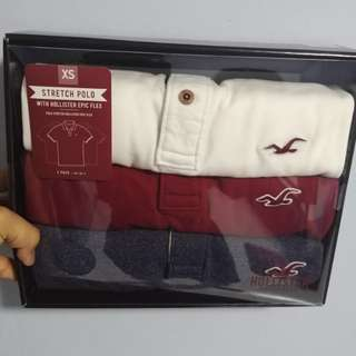 Hollister Polo Tee 3 pack.