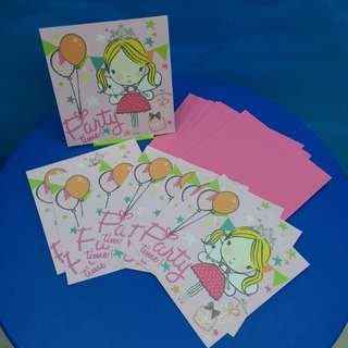 8張Party 邀請咭Invitation cards