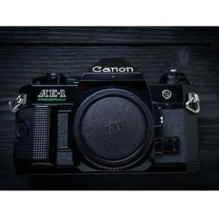 Canon AE-1 program SLR film camera