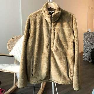 Uniqlo brown fluffy jacket