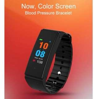 彩屏智能 手環血壓心率監測運動手環計步 手錶