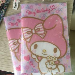 my Melody A5 size 單行簿
