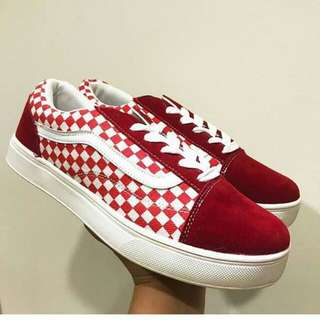 Vans Chequer Red