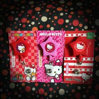Hello Kitty Star Shaped Retractable Reel for lanyard / card / key holder