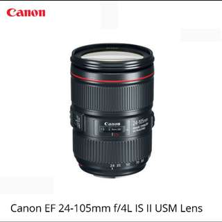 Canon EF 24-105mm F4 L IS ll USM Lens