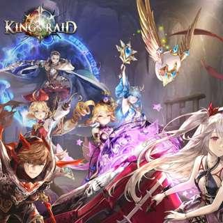 Level 88 Kings Raid (Asia) (35 Heroes & 254k rubies spent)