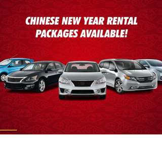 CAR RENTAL - CHINESE NEW YEAR