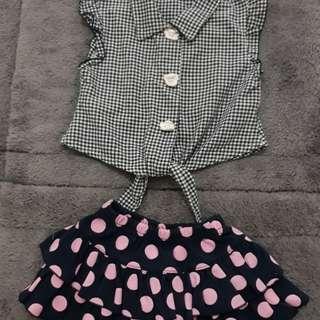 stelan baju dan rok