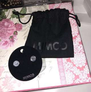 MIMCO earrings button
