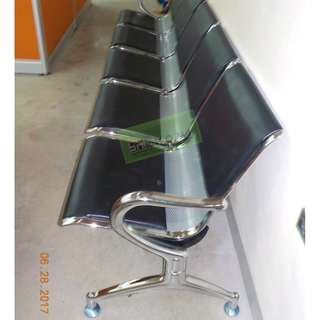 5 SEATER GANG CHAIR WITH CUSHION--KHOMI